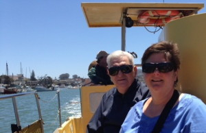 Me and my Dad on a Sub Sea boat tour around Morro Bay